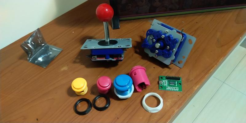 DIY 街機 大型電玩 按鈕 搖桿 控制板 芯片 剩下的材料 , 全新