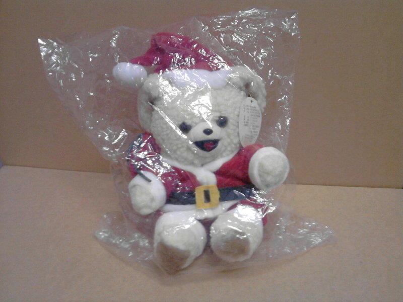 【秋海棠】聖誕熊(全新)→外有塑膠套模包裝,絨棉娃娃,聖誕節禮物