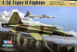 (盒損) HOBBYBOSS 1/72 美國 F-5E 虎II型 戰鬥機 貨號:HO80207
