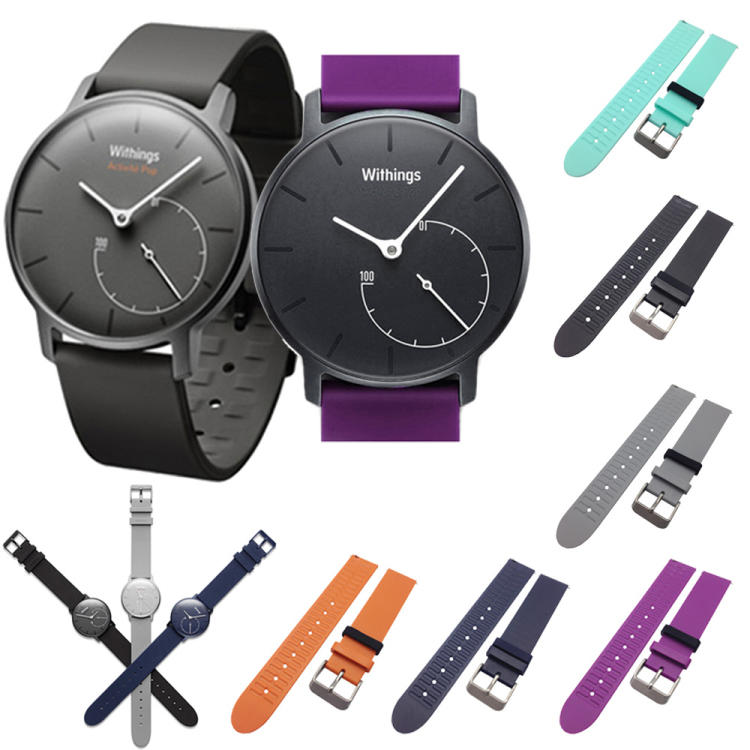 【現貨】ANCASE 18mm Withings Pop Withings Activite steel 軟膠軟膠錶帶