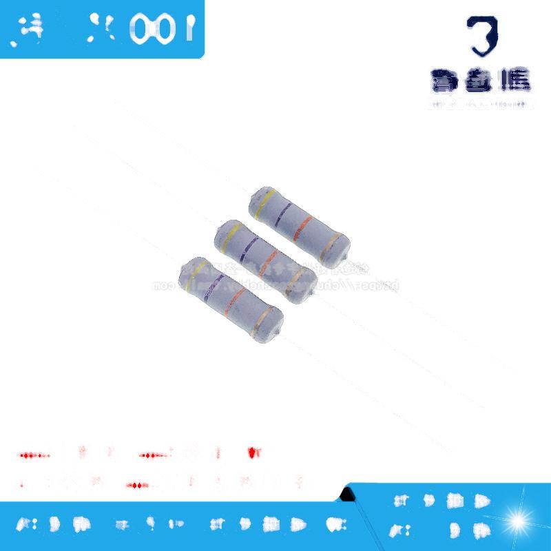 3W碳膜電阻 110K 110KΩ 精度5% 四色環電阻 100只/包 214-00920