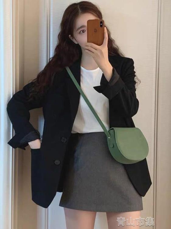 【可開發票】西裝外套小西裝外套 新款韓版女上衣網紅春秋英倫設計感小眾小個子西服—聚優購物網
