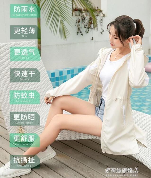 防曬衣-防曬衣女夏季新款中長款防紫外線防曬服薄款外套網紅防曬衫女  熱銷