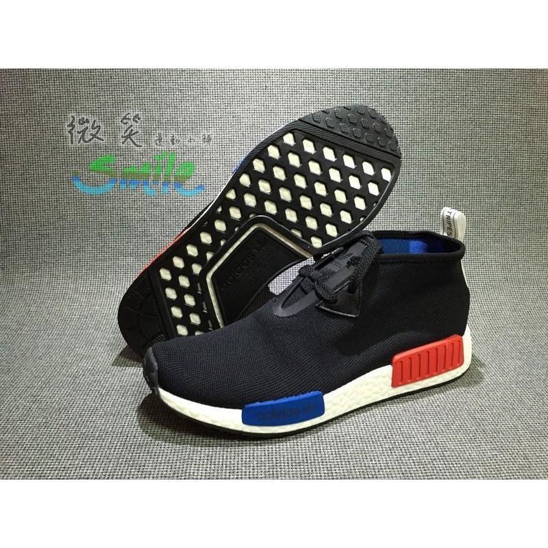 Adidas NMD Chukka C1 中筒 慢跑鞋 黑白 藍紅 男鞋
