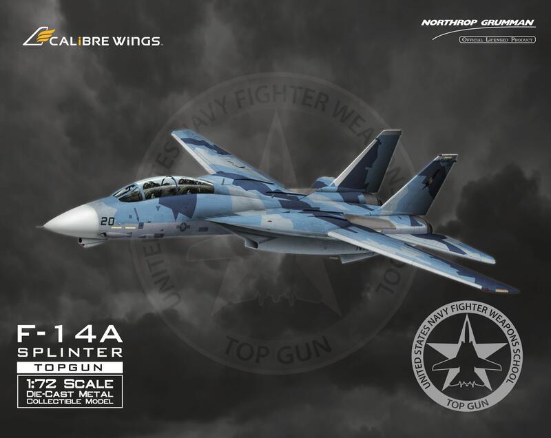 【模王 預購】Calibre Wings F-14 F14 TOP GUN 假想敵 塗裝 比例 1/72 合金完成品
