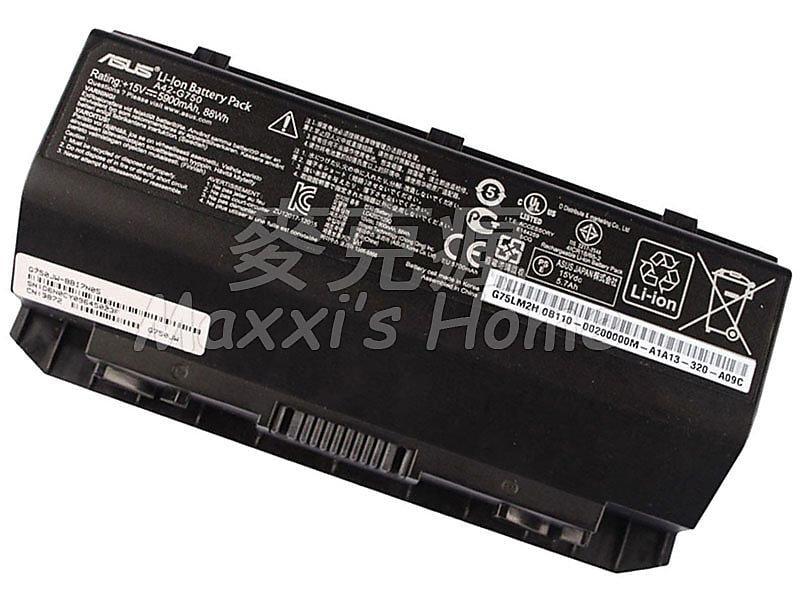 【麥克瘋】原裝全新華碩ASUS G750JH系列筆記型電腦筆電電池8芯88WH黑色保固三個月-5311709