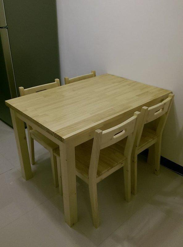 【森林原木手工家具】原木四人餐桌
