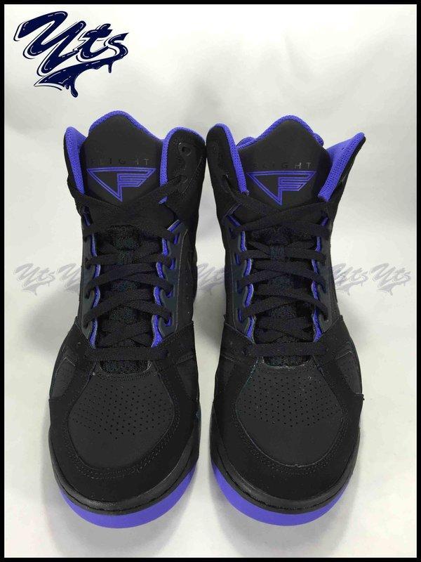 NIKE AIR FLIGHT LITE HI 黑紫 高筒 麂皮 果凍底 復古 籃球鞋 男