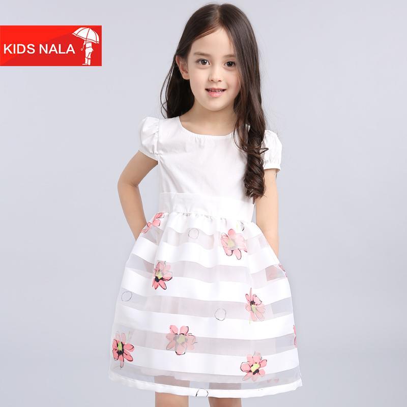 童裝女童連衣裙3寶寶公主裙4夏裝5中大童6-7-8歲夏季兒童裙子短袖