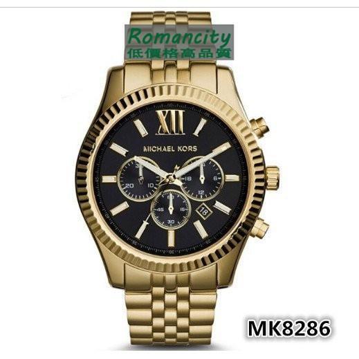 Michael Kors 男大錶盤MK手錶圓盤剛鏈帶三眼日期男士腕錶MK8313 8344
