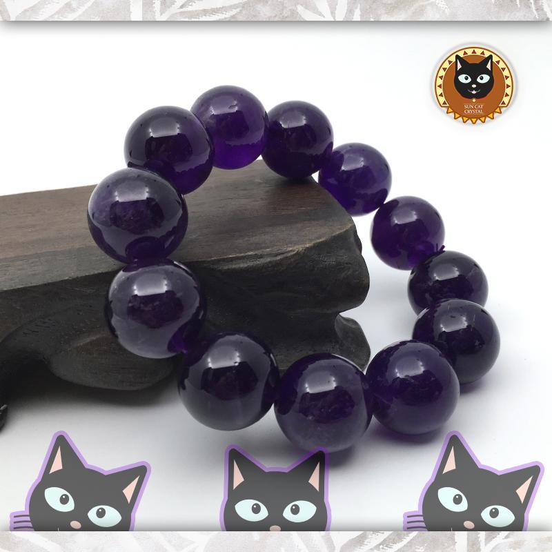 ☼§太陽貓水晶§☼【爵品收藏】烏拉圭 重量級 收藏級 18mm 紫水晶 Amethyst