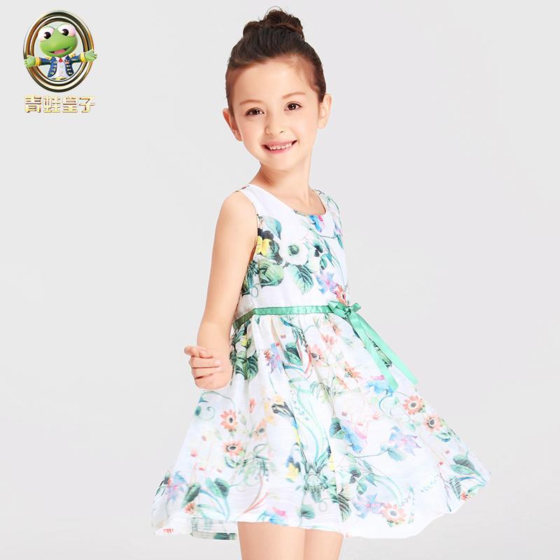 童裝女童連衣裙夏裝兒童公主裙夏季中大童2016新款韓版小女孩裙子