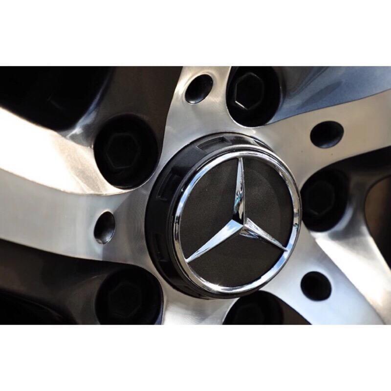 現貨!賓士【4個一組】輪圈蓋  (黑色專區) Benz AMG A45 CLA C63 GLA E63 車輪蓋 中心蓋
