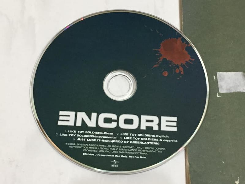 Eminem 2004 Like Toy Soldiers Taiwan 5 Track Promo CD