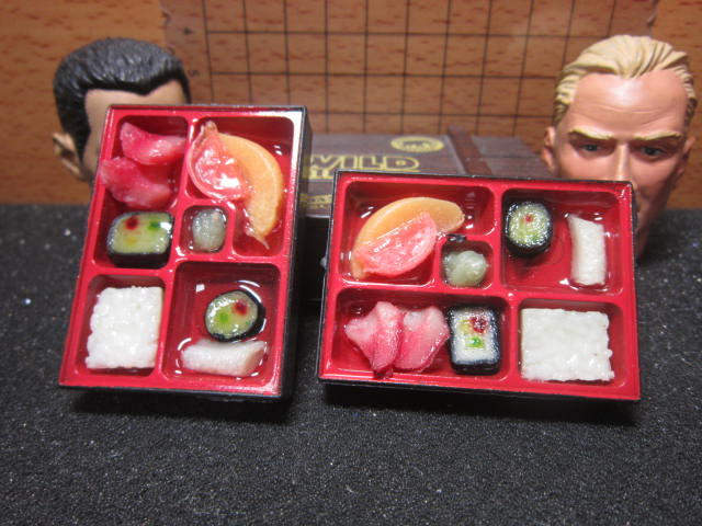 U5Z伙房單位 水果壽司餐F款1/6豐盛餐盒便當一個 mini模型