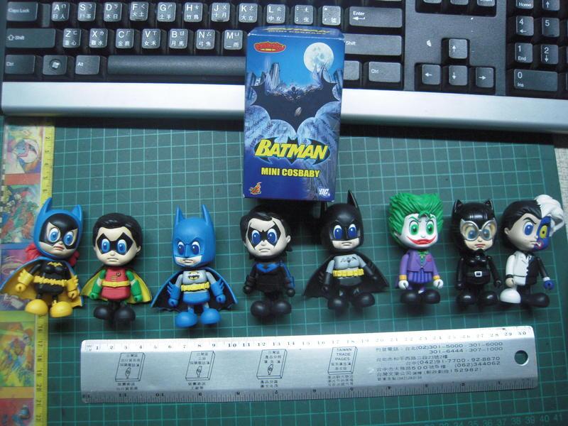 收藏經典絕版二手商品一套 8隻(含特別版只有一個外盒) hot toys Cosbaby BATMAN 蝙蝠俠請看說明