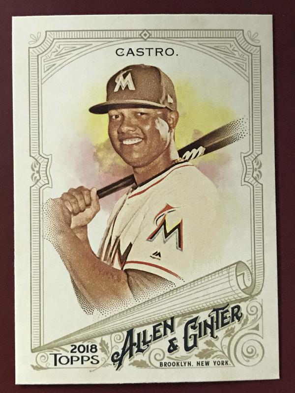 2018 Topps Allen and Ginter #339 Starlin Castro SP