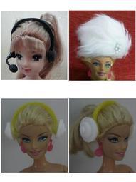 芭比娃娃配件~耳麥.毛帽.腰帶.鑰匙.狗狗.抱枕