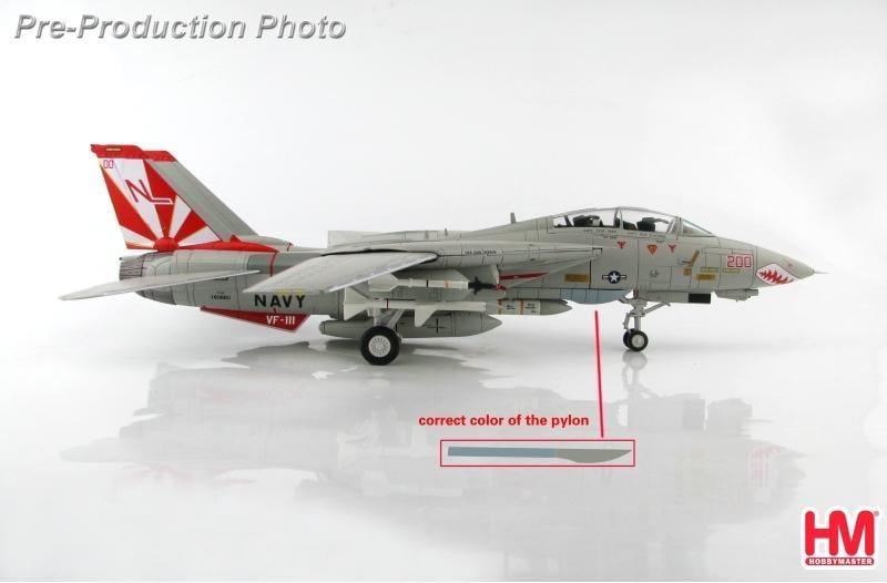 """☆全球防衛雜誌☆◆軍機飛行館◆[1/72]HM(HA5228) F-14A  VF-111 """"Sundowners"""""""
