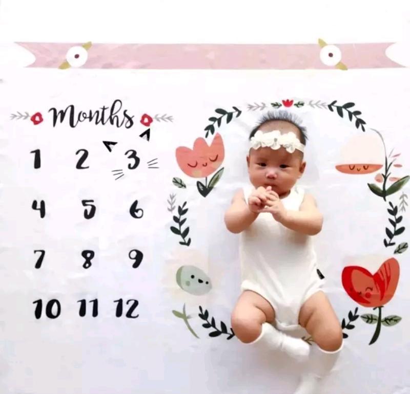 彩色嬰幼兒拍照背景布 可愛寶寶成長記錄/po文/寶寶拍照記錄/新手媽咪baby