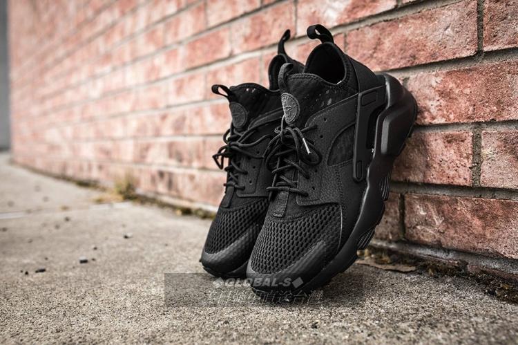 【GS】Nike Air Huarache 二代 全黑 呼吸透氣 黑武士 833147-001 BOOST AJ 金標