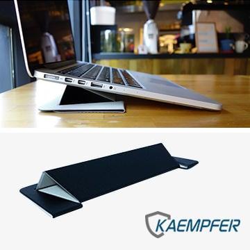 北車  [Kaempfer] 超輕薄 一片式設計 通用型 攜帶式 筆電 支架 立架 (科技黑) macbook pro