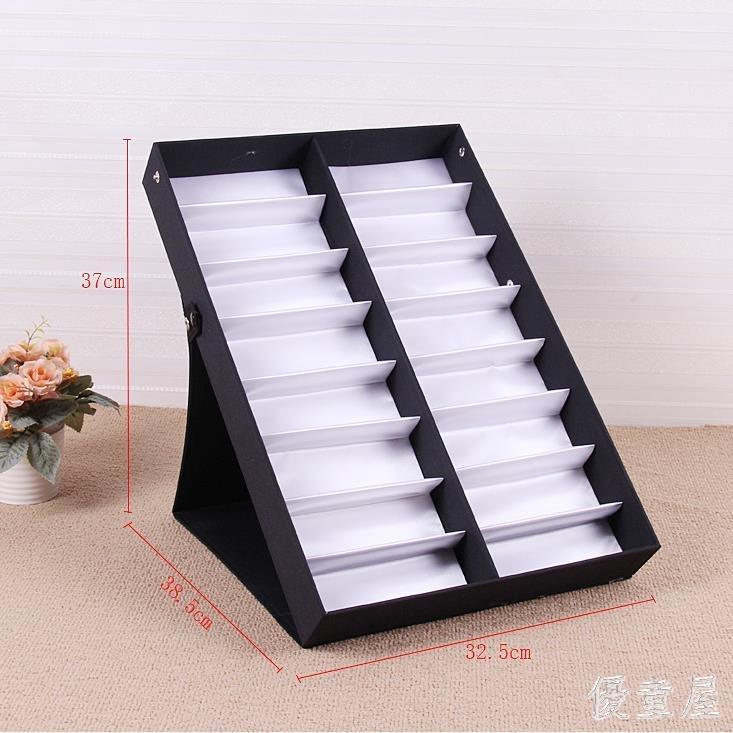 16格眼鏡收納盒柜臺展示架地攤擺放盒  JL1878TW