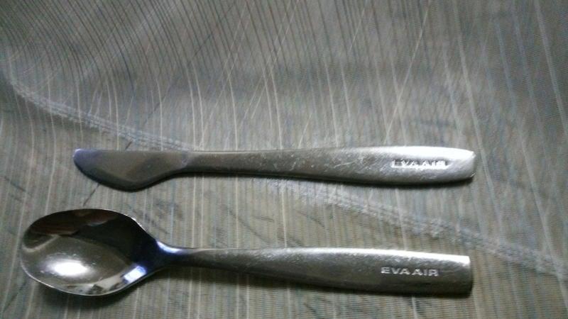 長榮航空 機上餐具(湯匙+牛油刀) - 鐵