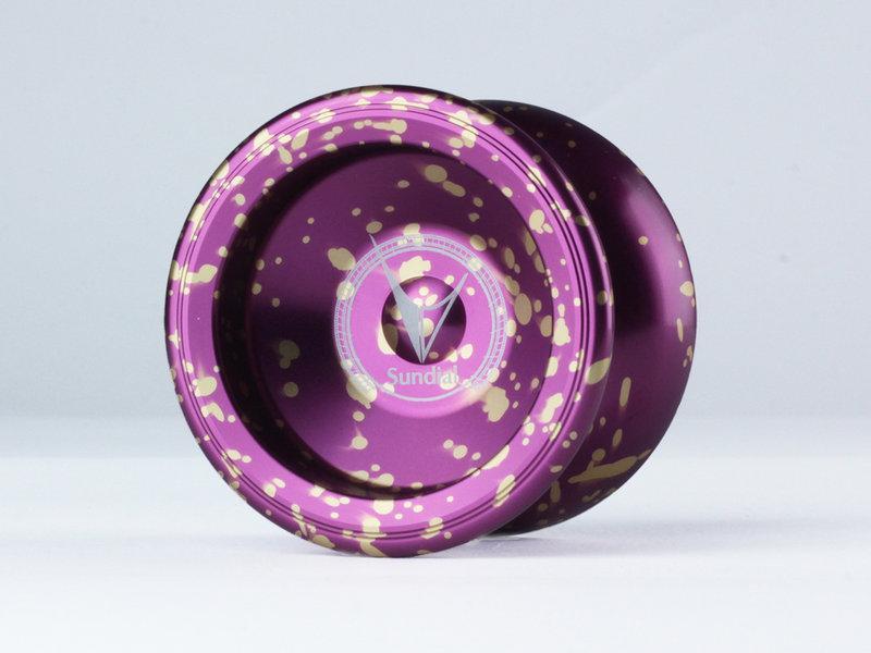 Sundial 日晷 潑墨紫色 競技專用 競技 初學 教學 教材 國產 全金屬 航太金屬 溜溜球 奇妙 yo-yo