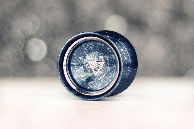 Accel 手工特製潑墨藍 競技專用 競技 初學 教學 教材 國產 全金屬 航太金屬 溜溜球 奇妙 yo-yo