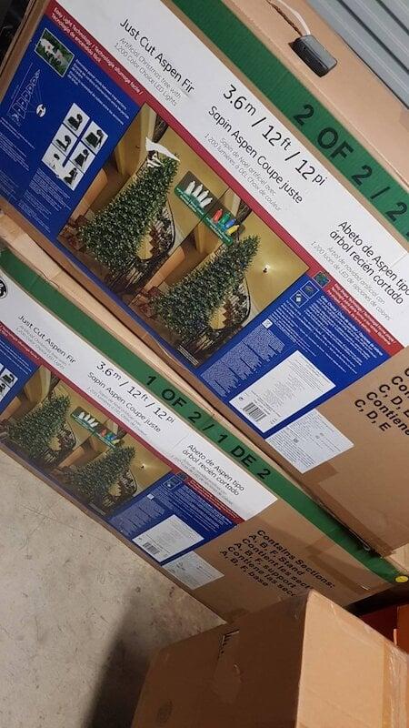 12呎聖誕樹 LED 聖誕樹附無線遙控器 3.65公尺高 999096 好市多賣的 中國製 箱子破