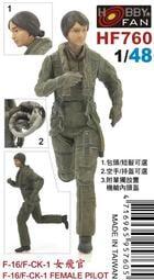 Hobby Fan 戰鷹 1/48 HF760 F-16/F-CK-1 女飛官 (1樹脂人型)