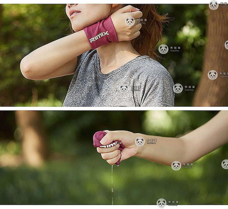 RIMIX 冰涼感 散熱 擦汗 護腕 腕套 運動 路跑 降溫 健身 吸汗 舒適 慢跑 汗水 冰涼