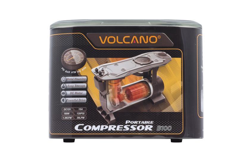 新品上市限量發售[Volcano]風勁霸  B100一體成型智慧打氣機/輪胎充氣機