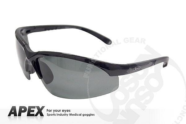 大里RV城市【APEX】運動型太陽眼鏡-偏光鏡.防滑.抗UV護目鏡.軟質高鼻墊.登山 滑雪/黑 908