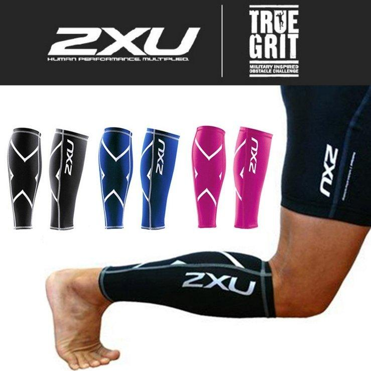 2XU [黑銀] 機能壓縮護小腿 腿套 鐵馬 慢跑 跑步三鐵重量訓練深蹲TABATA Compression Tight