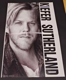 【南傑克商店街】/『書報攤』/對折明星海報/ Kiefer Sutherland基佛蘇德蘭