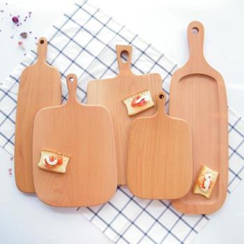櫸木實木砧板菜板面包板披薩板水果板牛排托盤小孩輔食板原木拼接