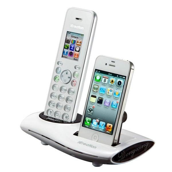 【通訊達人】【庫存出清】iCreation i-650藍芽DECT數位彩色螢幕無線電話機_ 白色