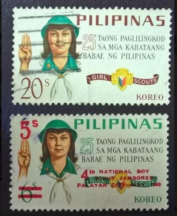 【AntStamp螞蟻郵票站】菲律賓 1969 童子軍25週年紀念票 2枚 #3238
