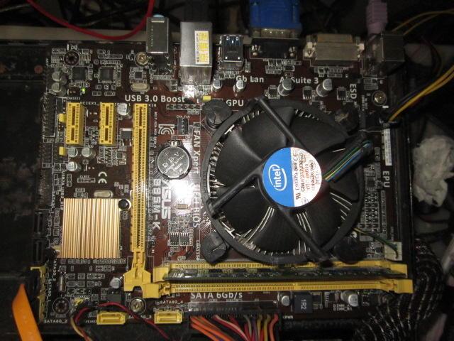 ASUS 華碩~B85M-K**主機板+CPU+風扇**1150腳位~DDR3~附擋板   <279>