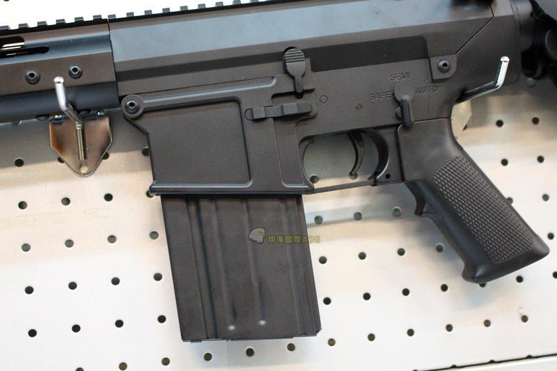 【翔準軍品AOG】A&K SR25彈匣(黑) 電動 彈夾 BB槍 生存遊戲 1111AHB