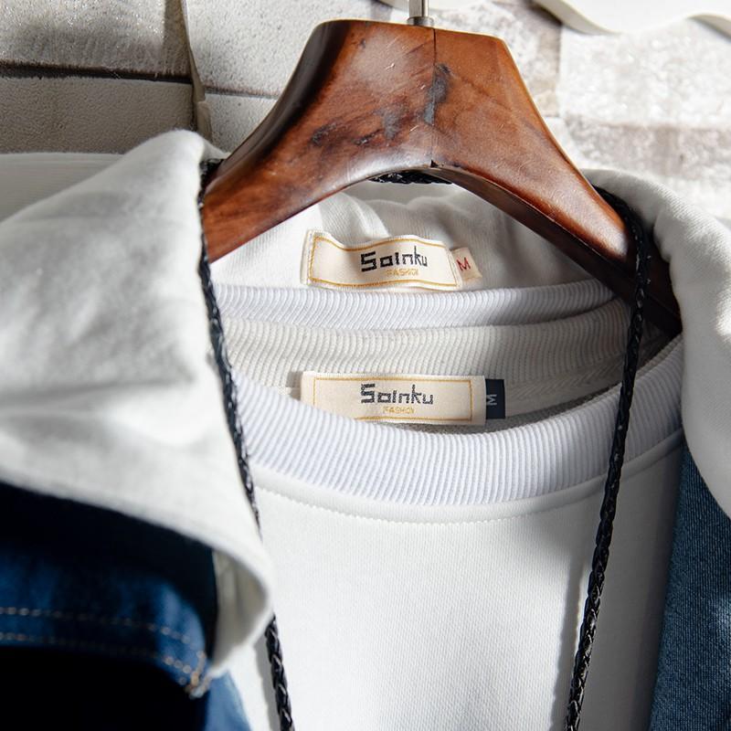 【開心買場】Soinku2019流行連帽牛仔外套男韓版潮流春秋裝中長款ins男式夾克