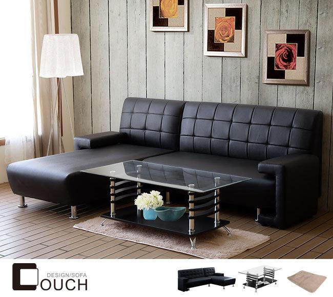 沙發-客廳組-金田L型沙發+茶几+地毯 客廳超值組【YKS】COUCH。原特價18800元。超值價9990元 專 非