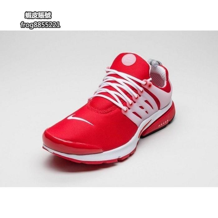 NIKE AIR PRESTO 紅白 輕量 透氣 網布 刺繡 魚骨 慢跑鞋 男鞋