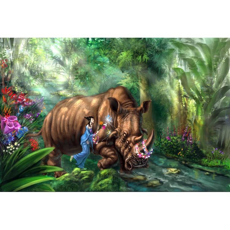【開心買場】御貢坊動物的家高品質1000片木質500片成人拼圖進口材質動物家園