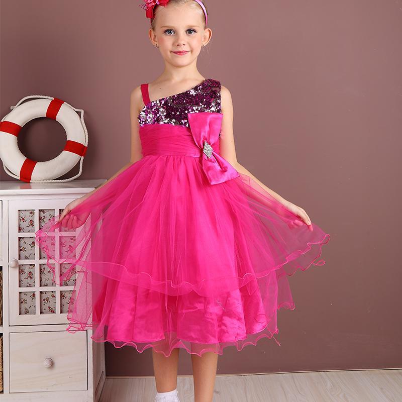 夏季中大兒童連衣裙下公主裙兒童裙子甜美女童蓬蓬裙禮服裙