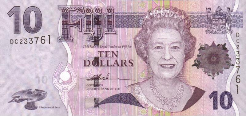 斐濟-2012年10元
