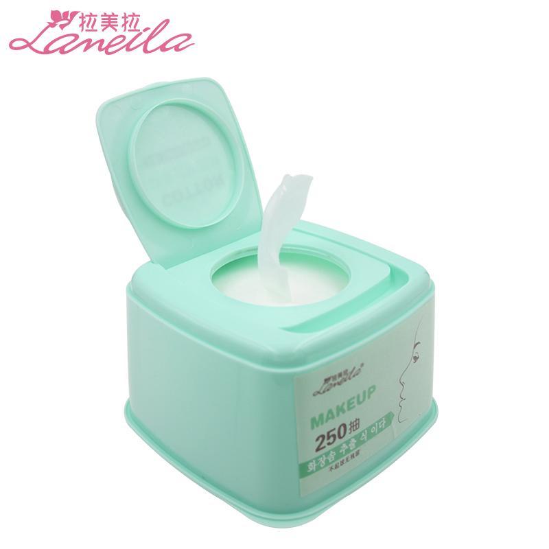 250抽 化妝棉 膠盒裝 抽取式 卸妝棉 薄款多效上妝補水化妝工具
