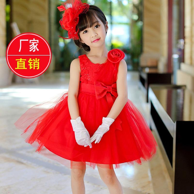 女童夏季連衣裙2016新款夏裝裙子兒童公主連衣裙六一表演蓬蓬紗裙